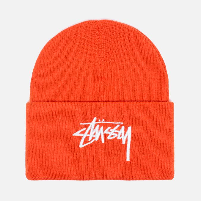 Stussy Stock Cuff Beanie Hat Orange