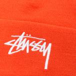 Stussy Stock Cuff Beanie Hat Orange photo- 1