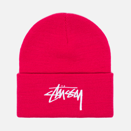 Stussy Stock Cuff Beanie Hat Pink