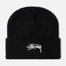 Шапка Stussy Stock Cuff Embroidered Logo Black фото- 0