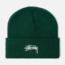 Шапка Stussy Stock Cuff Embroidered Logo Forest фото- 0