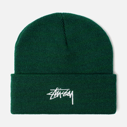 Шапка Stussy Stock Cuff Embroidered Logo Forest