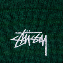 Шапка Stussy Stock Cuff Embroidered Logo Forest фото- 1
