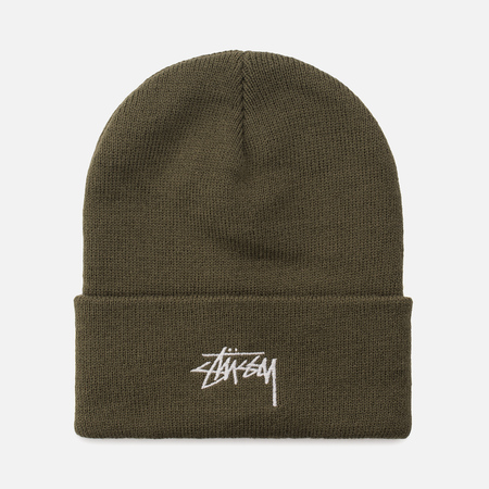 Шапка Stussy Stock FA17 Cuff Beanie Olive