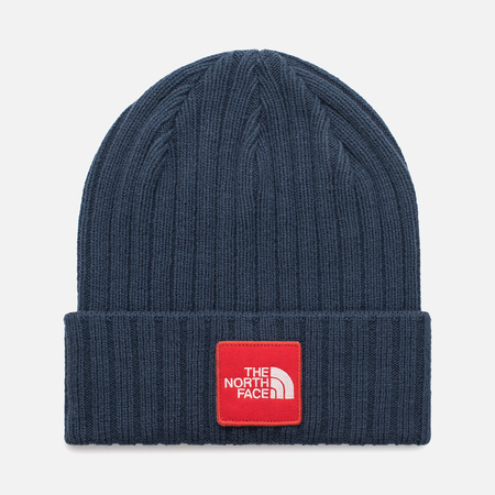 Шапка The North Face TNF Logo Box Cuffed Beanie Shady Blue