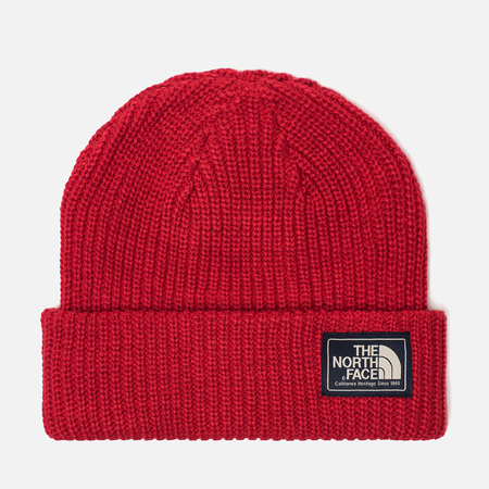 Шапка The North Face Salty Dog Beanie Graphite TNF Red/Rage Red