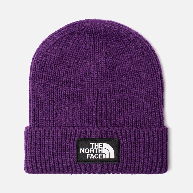 Шапка The North Face TNF Logo Box Cuffed Beanie Hero Purple