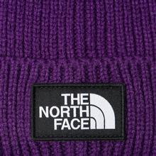 Шапка The North Face TNF Logo Box Cuffed Beanie Hero Purple фото- 1