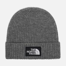 Шапка The North Face TNF Logo Box Cuffed Beanie Medium Grey Heather фото- 0