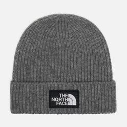 Шапка The North Face TNF Logo Box Cuffed Beanie Medium Grey Heather