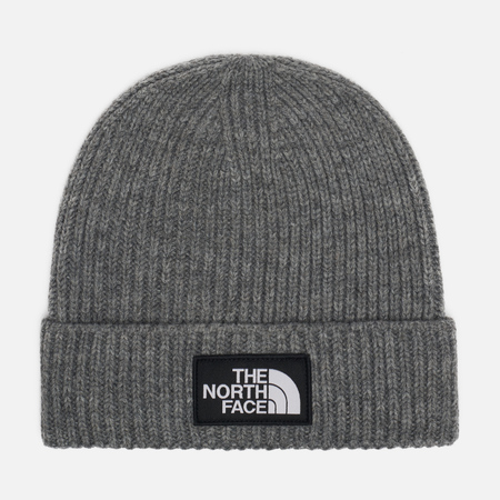 Шапка The North Face TNF Logo Box Cuffed Beanie Medium Grey Heather