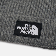 Шапка The North Face TNF Logo Box Cuffed Beanie Medium Grey Heather фото- 1