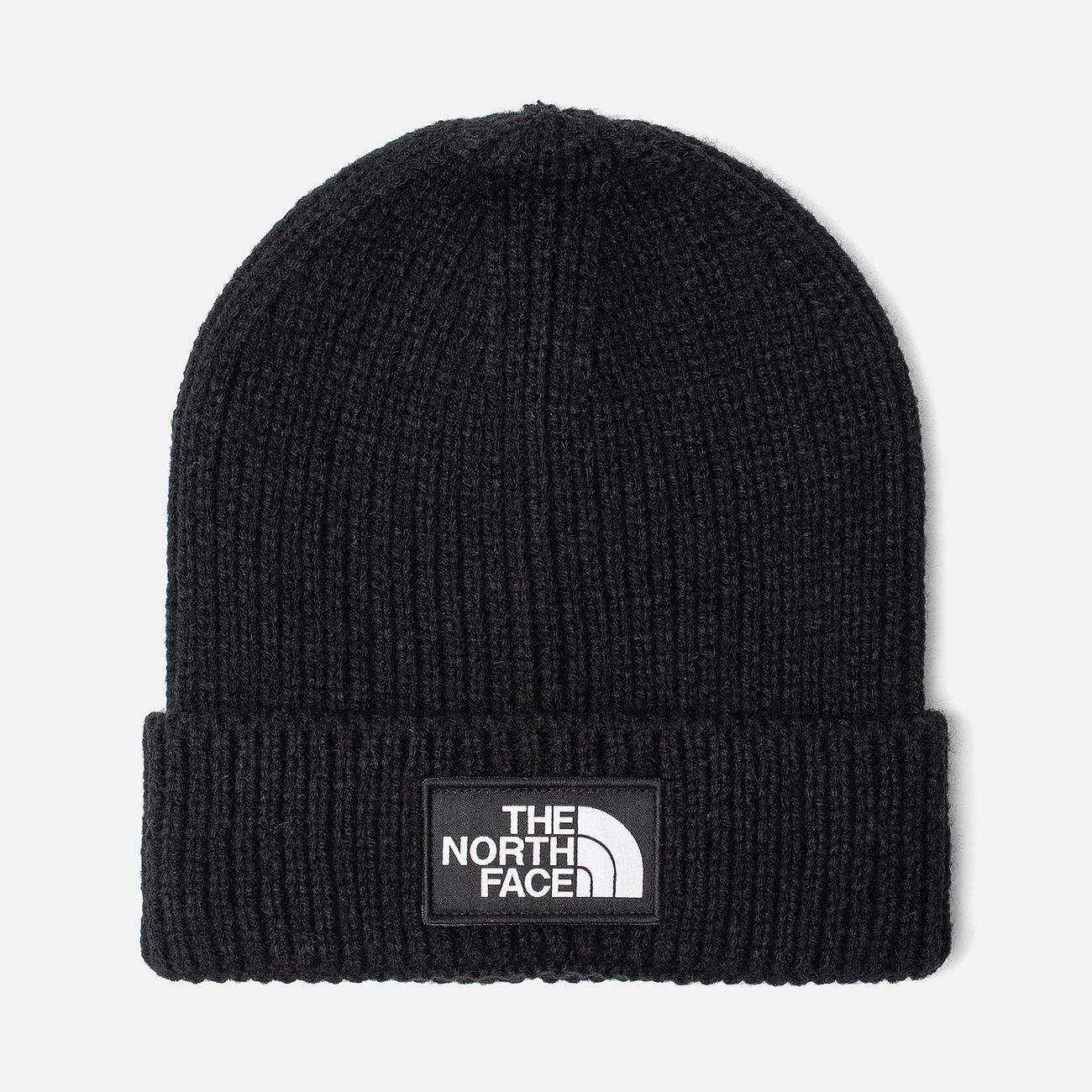 Шапка The North Face TNF Logo Box Cuffed Beanie TNF Black