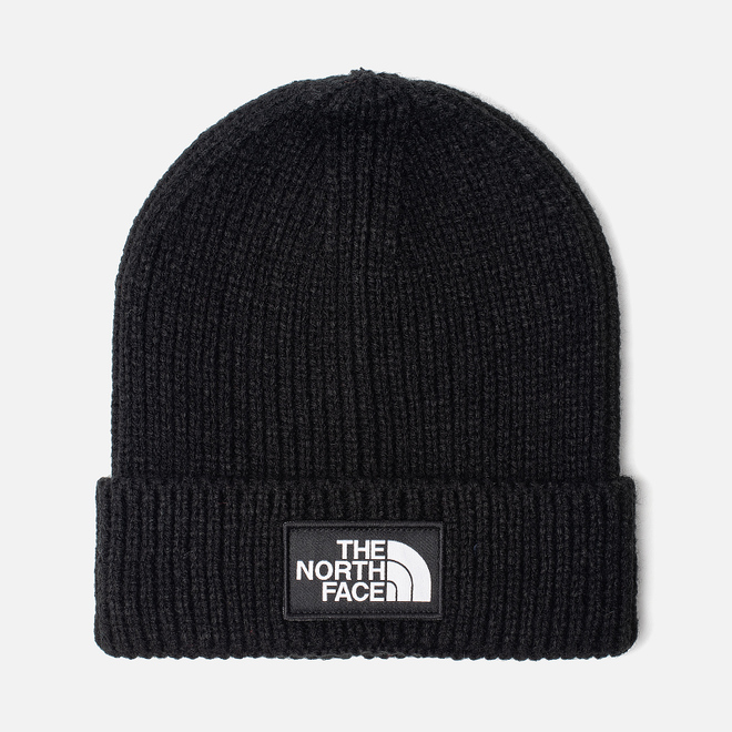 Шапка The North Face TNF Logo Box Cuffed Beanie TNF Black
