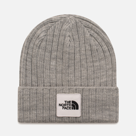 Шапка The North Face TNF Logo Box Cuffed Beanie TNF Light Grey Heather
