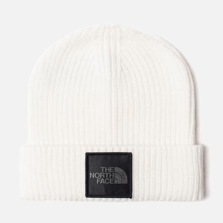 Шапка The North Face TNF Logo Box Cuffed Beanie TNF White/Silver Reflective