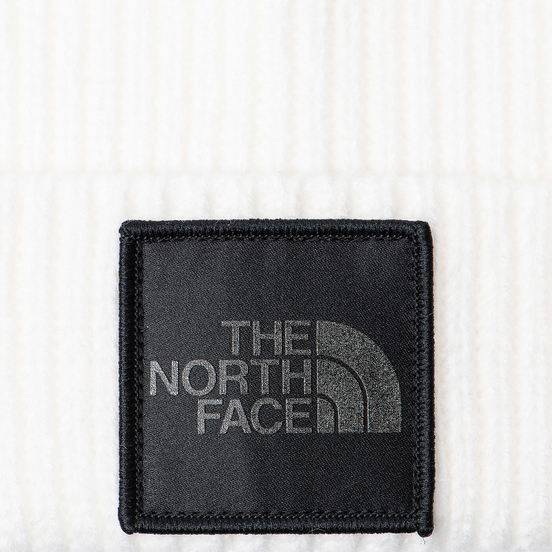 Шапка The North Face TNF Logo Box Cuffed Beanie TNF White/Silver Reflective
