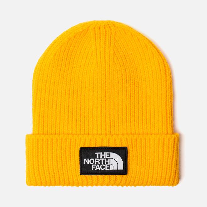 Шапка The North Face TNF Logo Box Cuffed Beanie TNF Yellow