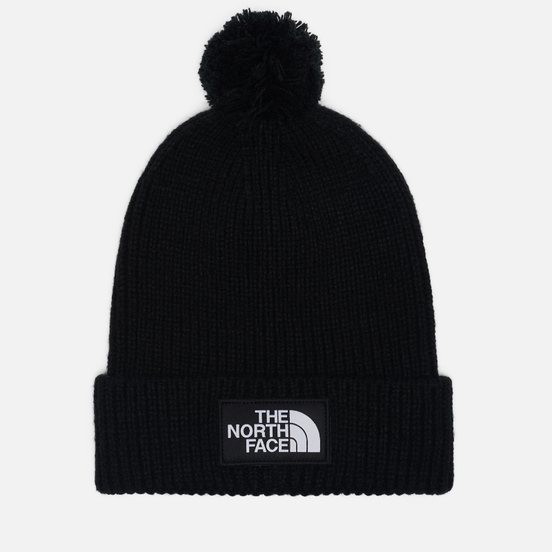 Шапка The North Face TNF Logo Box Pom TNF Black