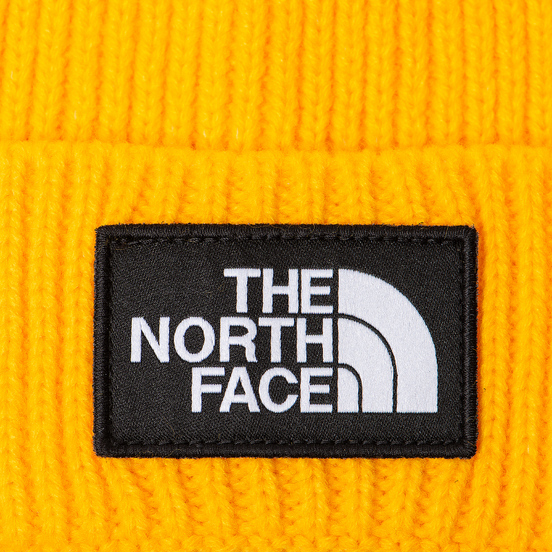 Шапка The North Face TNF Logo Box Pom TNF Yellow