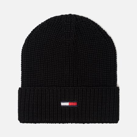 Шапка Tommy Jeans Basic Rib Beanie Black