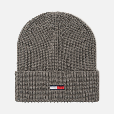 Шапка Tommy Jeans Basic Rib Beanie Light Grey Heather