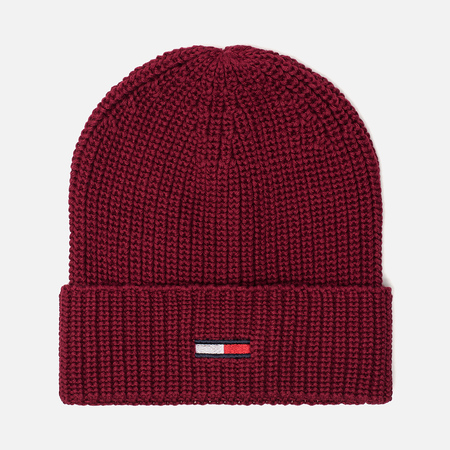 Шапка Tommy Jeans Basic Rib Beanie Rumba Red