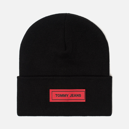 Шапка Tommy Jeans Tape Beanie Black