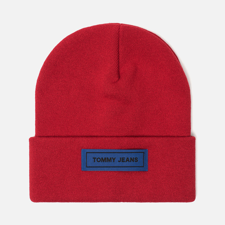 Шапка Tommy Jeans Tape Beanie Tommy Red
