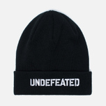Undefeated Stencil Beanie Hat Black photo- 0