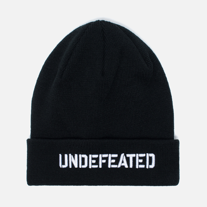 Undefeated Stencil Beanie Hat Black