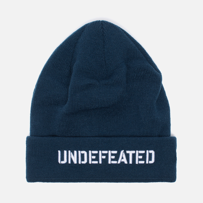 Undefeated Stencil Beanie Hat Navy