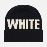 Шапка White Mountaineering White Big Logo Knit Black фото- 0
