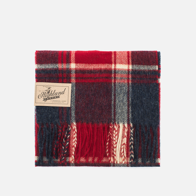 Barbour Baybridge Scarf Navy/Red