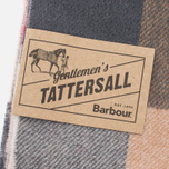 Barbour Large Tattersall Lambswool Scarf Camel/Red photo- 2