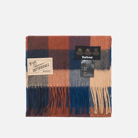 Шарф Barbour Large Tattersall Lambswool Navy/Camel