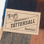 Шарф Barbour Large Tattersall Lambswool Navy/Camel фото- 2