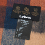 Шарф Barbour Large Tattersall Lambswool Navy/Camel фото- 3