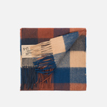 Шарф Barbour Large Tattersall Lambswool Navy/Camel фото- 1