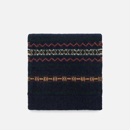 Шарф Barbour Martingale Fairisle Navy/Green