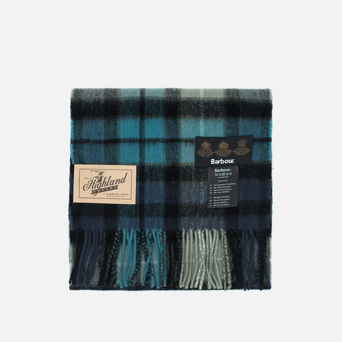 Barbour New Check Tartan Scarf Black