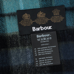 Barbour New Check Tartan Scarf Black photo- 2