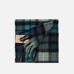 Barbour New Check Tartan Scarf Black photo- 3