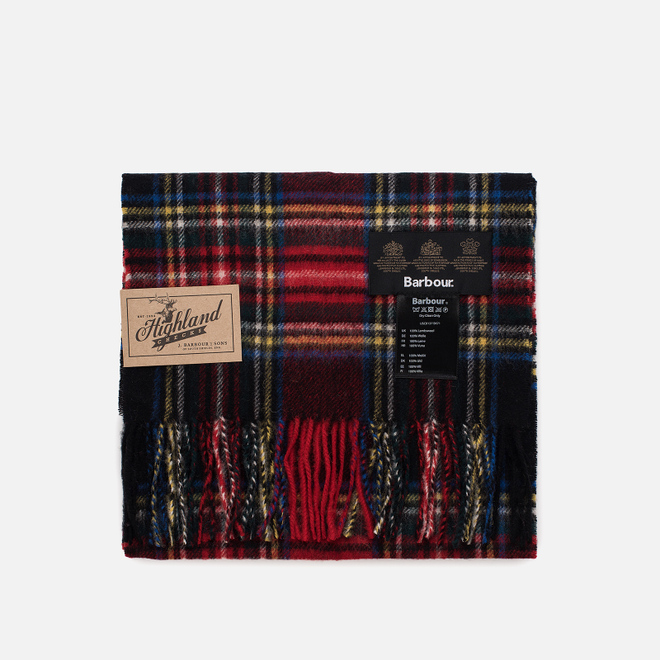 Шарф Barbour New Check Tartan Black Stewart