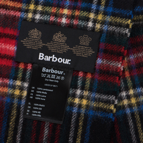 Шарф Barbour New Check Tartan Black Stewart