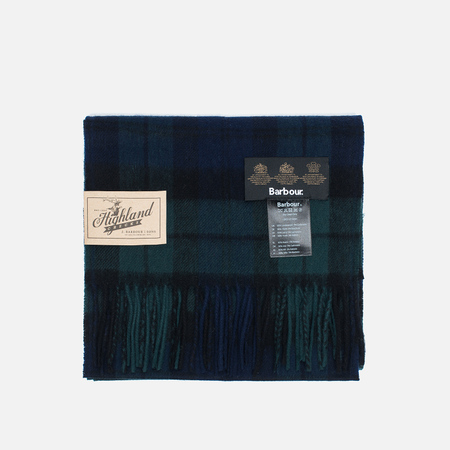 Barbour New Check Tartan Scarf Black Watch