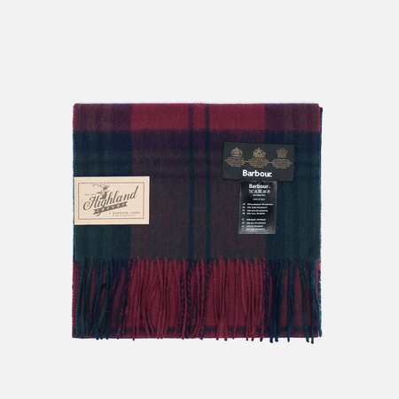 Barbour New Check Tartan Scarf Lindsay