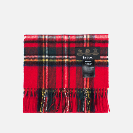 Barbour New Check Tartan Scarf Royal
