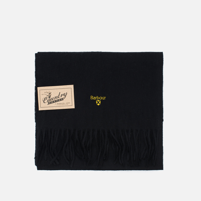 Шарф Barbour Plain Lambswool Black