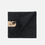 Barbour Plain Lambswool Scarf  Charcoal photo- 3